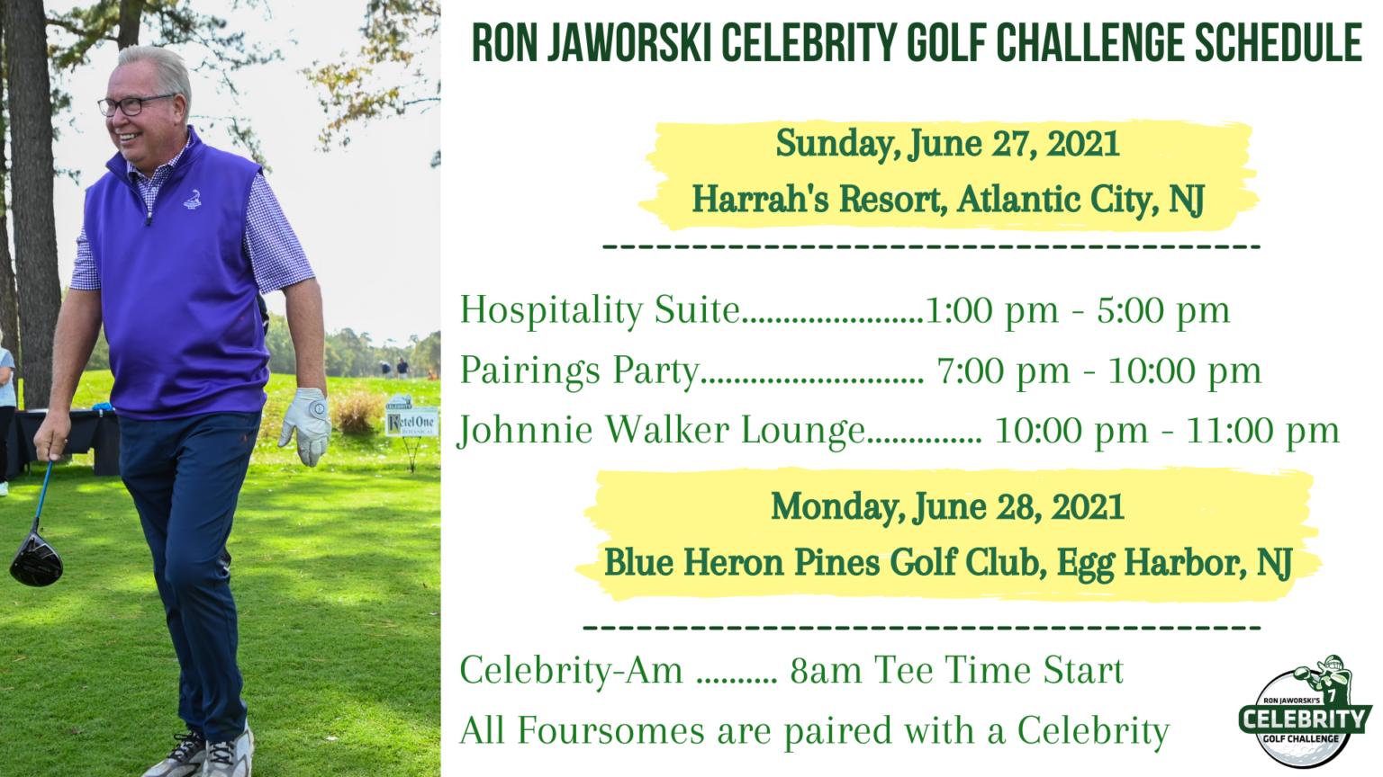 Ron Jaworski Celebrity Golf Challenge Schedule 2021
